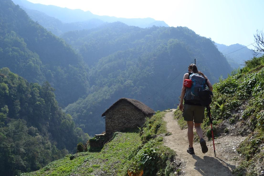En vacker vandring i Annapurnaregionen, Nepal
